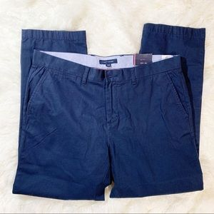 Men's NWT Tommy Hilfiger Navy Chinos Pants 35X30